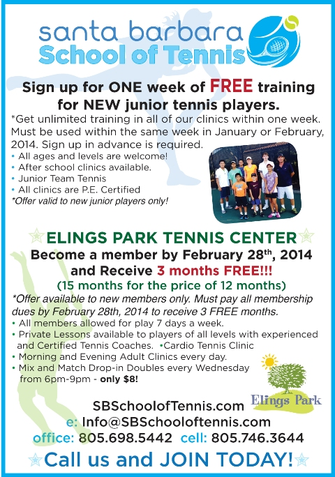 Santa Barbara School of Tennis promotion