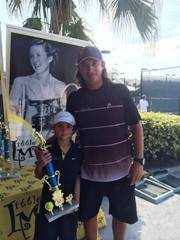 Vasyl Yazadzhiev won the Little Mo Consolation Tournament in Florida for Boys-9
