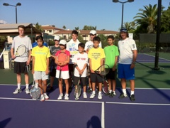 Santa Barbara School of Tennis Tournament Travel Team 2